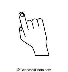 Human finger touching something icon vector illustration graphic design