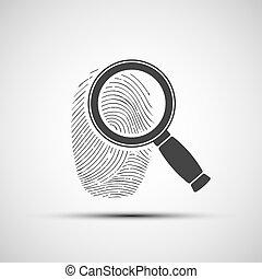 human fingerprint. Stock illustration. - Logo of the human...