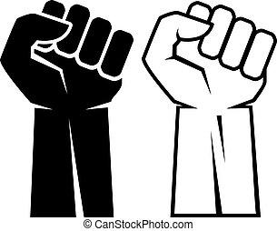 Human fist hand icon