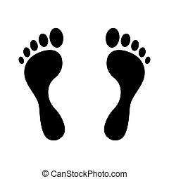 Human foot steps