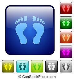 Human Footprints color square buttons