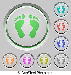 Human Footprints push buttons