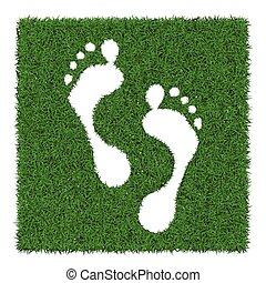Human footsteps