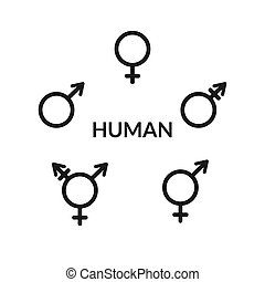 Human gender icons