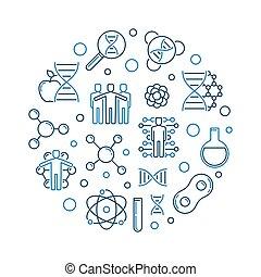 Genetic engineering illustration design. | CanStock