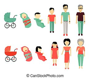 Human Growing Up Concept Illustration.