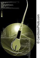Human hair structure - Digital illustration of Human hair...