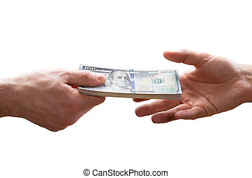 Human Hand Giving Bribe To Other Person
