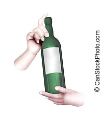 Human Hand Holding A Bottle of Wine