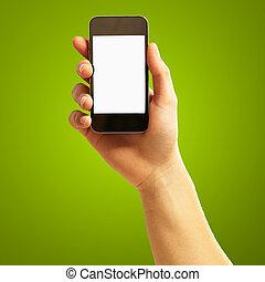 Human Hand Holding Cellphone