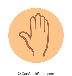 Human hand icon. Vector pictogram illustration isolated on white background.