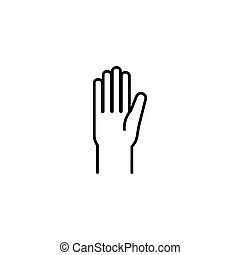 Human hand outline icon