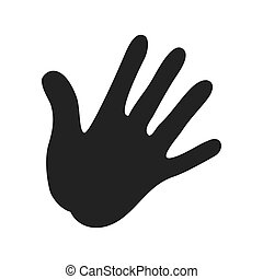 human hand palm icon vector illustration