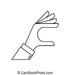 Human hand silhouette