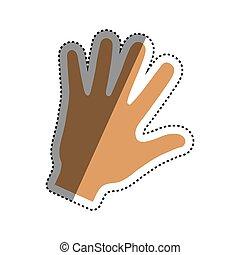 Human hand symbol