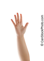 Human Hand Waving Isolated