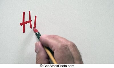 "HAPPY BIRTHDAY - Human hand writing word ""HAPPY BIRTHDAY""..."