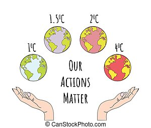 Human hands holding Earth. Save the Earth.