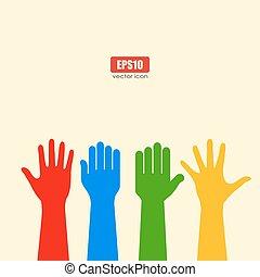 Human hands poster