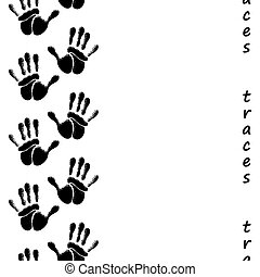 Human hands seamless pattern