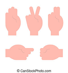 Human Hands Set Vector Illustration