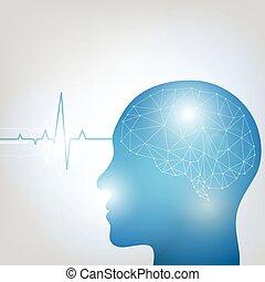 Human head and brain-1