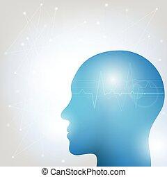 Human head and brain-2