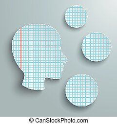 Human Head Checked Paper 3 Circles - Checked paper in human ...