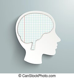 Human Head Checked Paper Brain