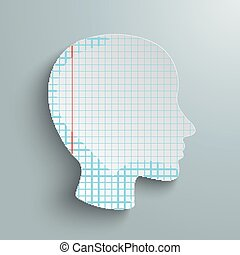 Human Head Checked Paper
