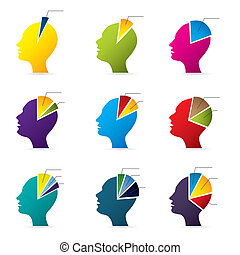 Human head infographic design
