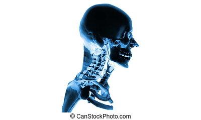 Human head rotating