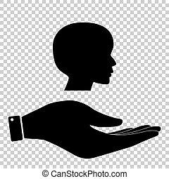 Human head sign
