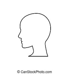 Human head silhouette icon vector illustration graphic...