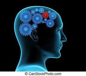 Human headache migraine