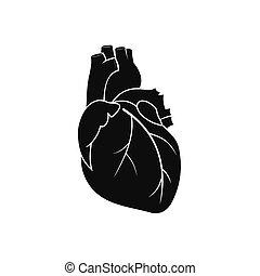 Human heart black icon