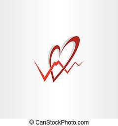 human heart medical cardiology logo vector