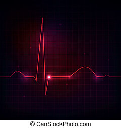 Human heart rhythm, beautiful bright design