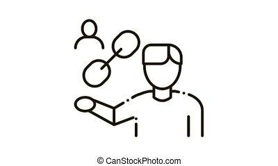 Human Hold Chain Icon Animation