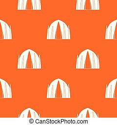 Human house pattern vector orange for any web design best