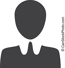Human icon in black on a white background. Vector illustration