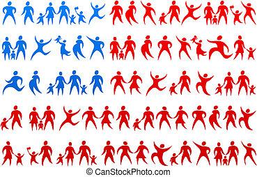 Human icons USA flag 2