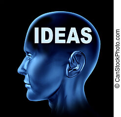 Human Ideas - Ideas and creativity symbol represented by a...