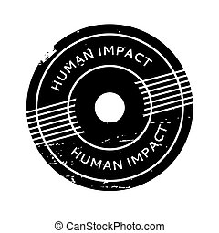 Human Impact rubber stamp