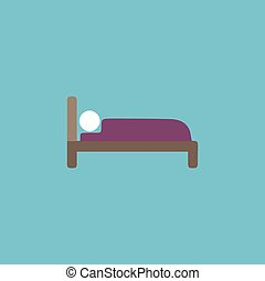 Human in bed sign icon.