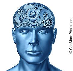Human intelligence - Intelligence brain function represented...