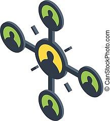 Human interaction icon, isometric style