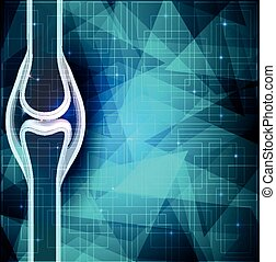 Human joint anatomy abstract background. Beautiful blue ...