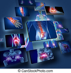 Human Joints Concept - Human joints concept with the...