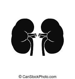 Human kidney black icon